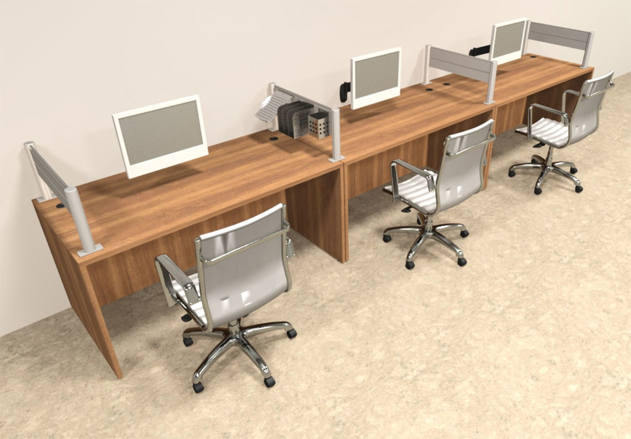 Three Person Modern Aluminum Organizer Divider Office Workstation, #OT-SUL-SPW5