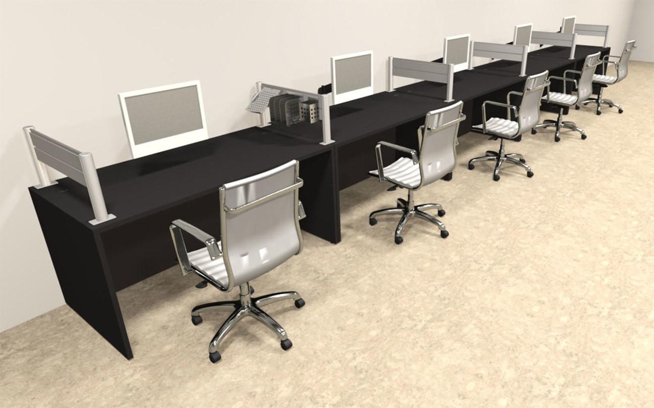 Five Person Modern Aluminum Organizer Divider Office Workstation, #OT-SUL-SPW16