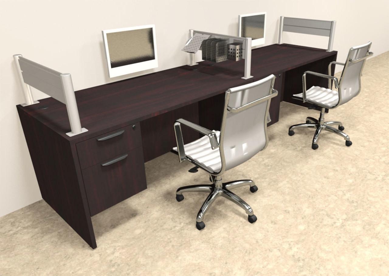 Two Person Modern Aluminum Organizer Divider Office Workstation, #OT-SUL-SPW23