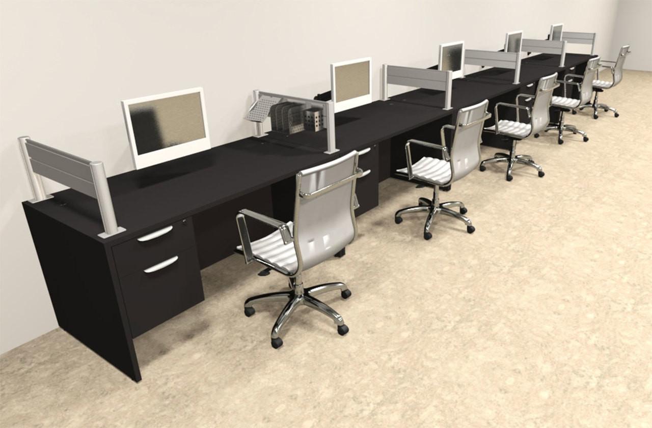 Five Person Modern Aluminum Organizer Divider Office Workstation, #OT-SUL-SPW36