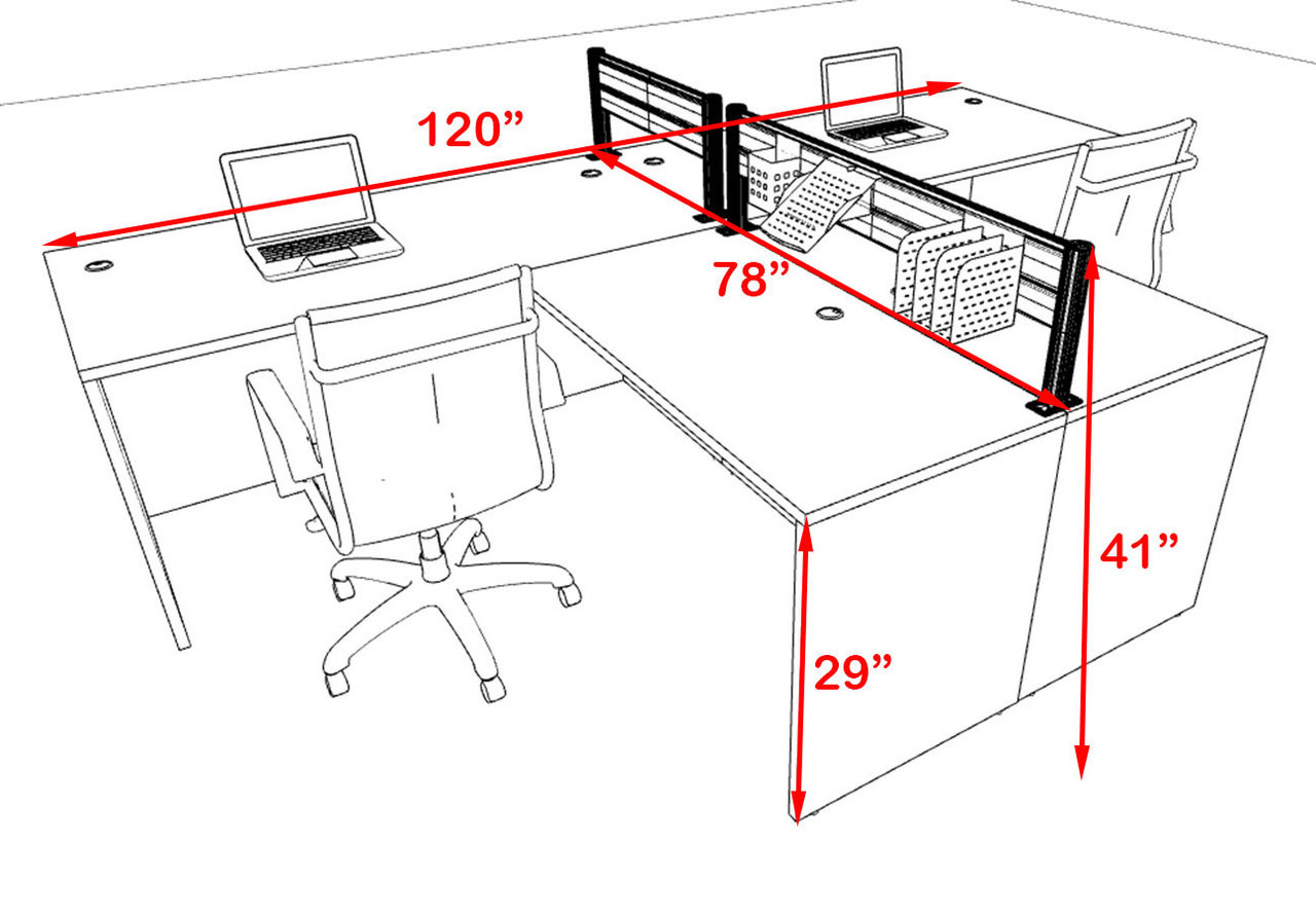 Two Person Modern Aluminum Organizer Divider Office Workstation, #OT-SUL-SPW43