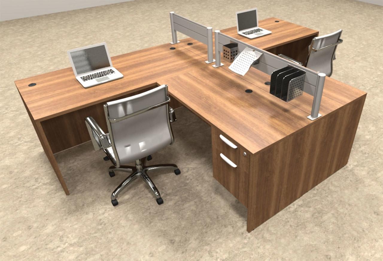 Two Person Modern Aluminum Organizer Divider Office Workstation Ot