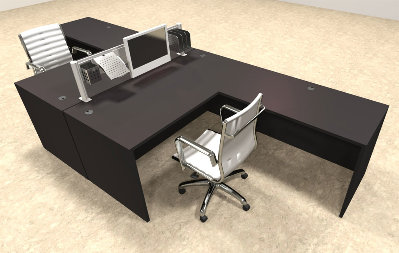 Two Person Modern Aluminum Organizer Divider Office Workstation, #OT-SUL-FPW28