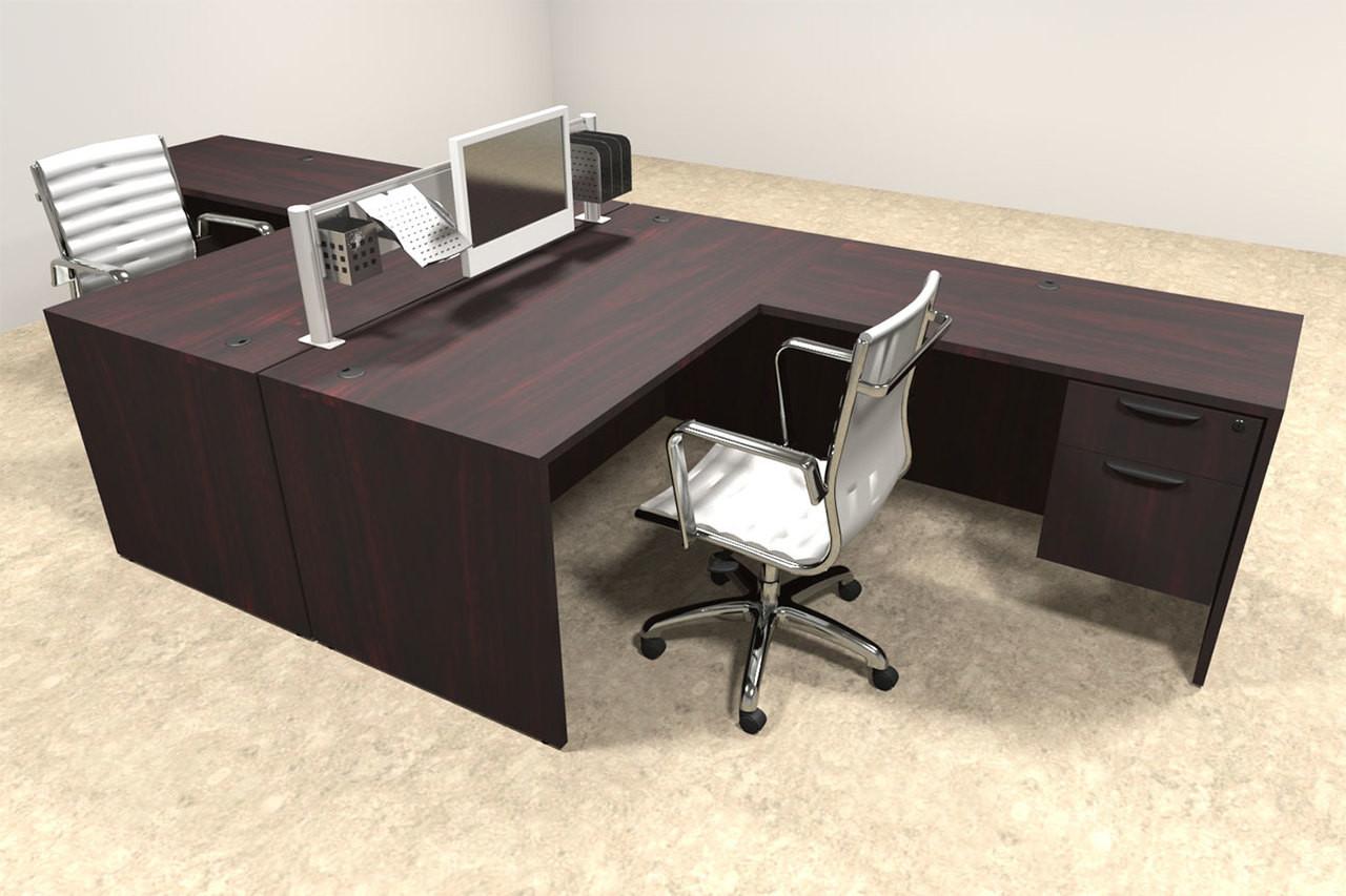 Two Person Modern Aluminum Organizer Divider Office Workstation, #OT-SUL-FPW39