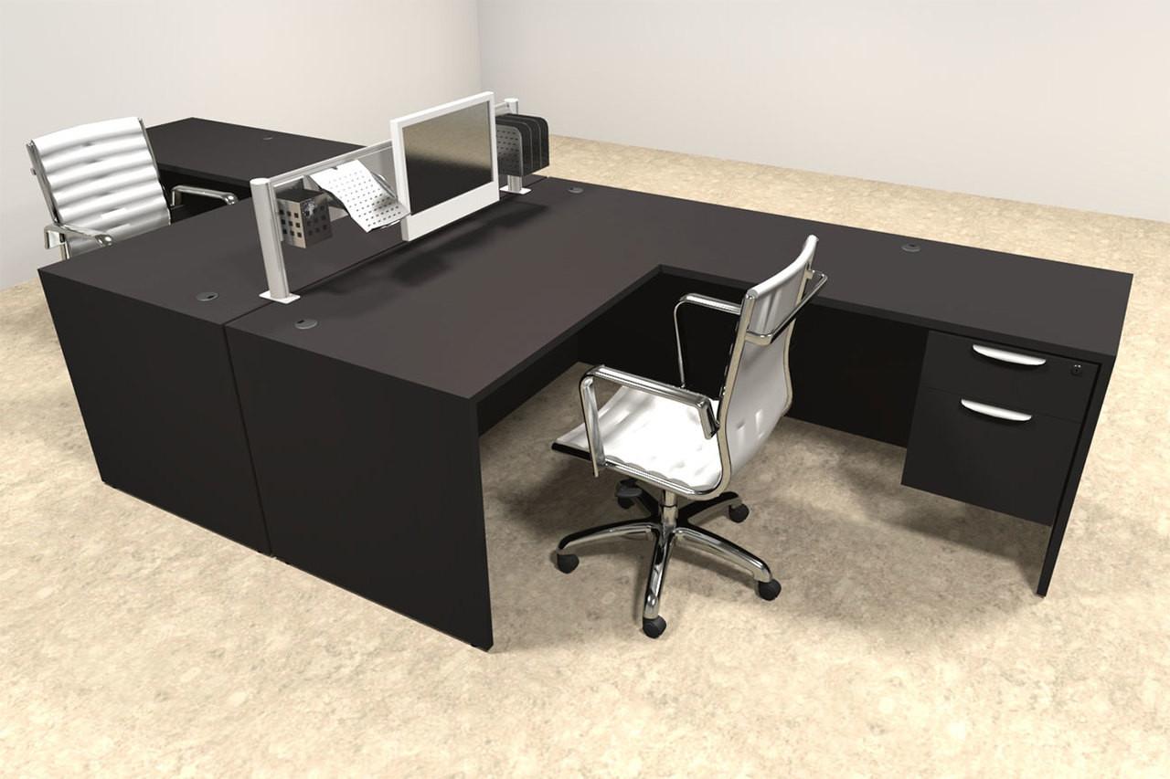 Two Person Modern Aluminum Organizer Divider Office Workstation, #OT-SUL-FPW40