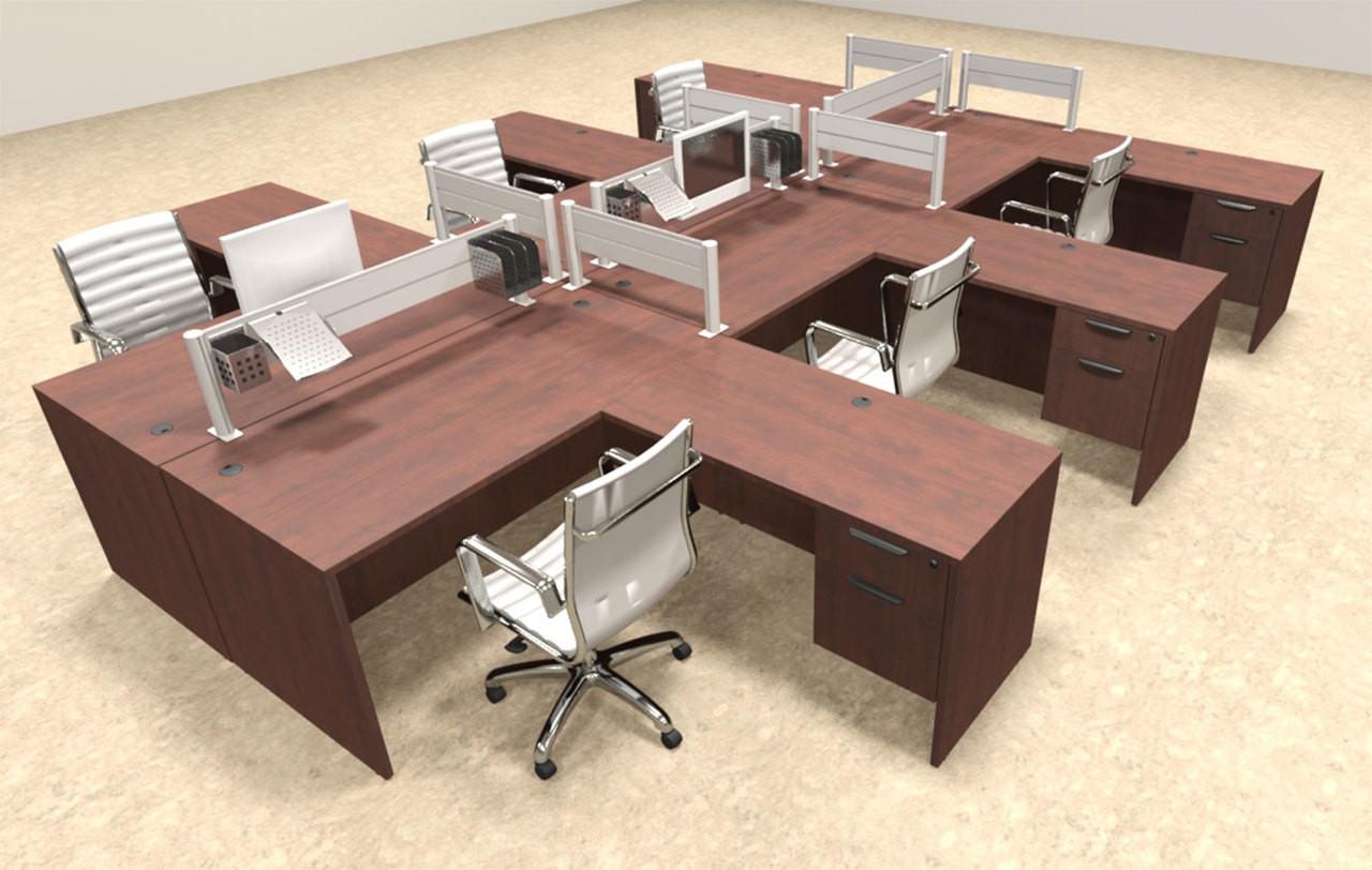 Six Person Modern Aluminum Organizer Divider Office Workstation, #OT-SUL-FPW46
