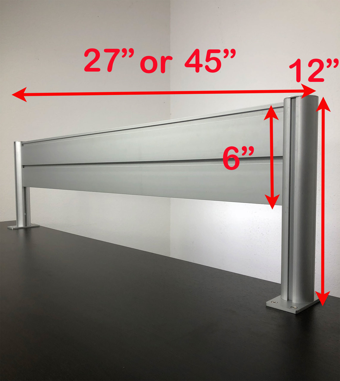 "Office Desk 47"" x 12"" Aluminum Organzier / Divider Panel Slatwall, #OT-SUL-HANG1"