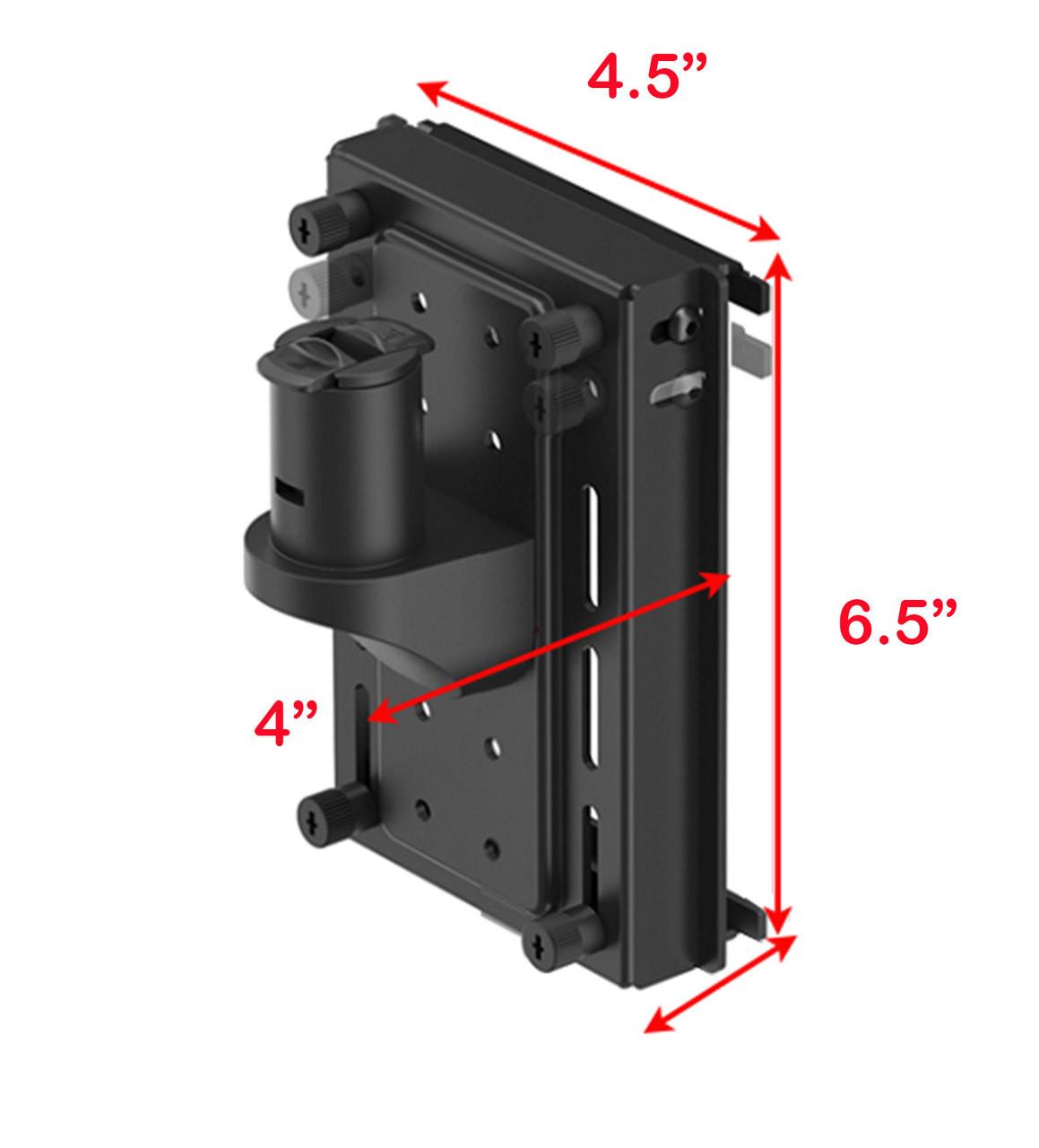 VESA Monitor Mount for Aluminum Organizer Slatwall w/ Short Arm, #OT-SUL-HANG4