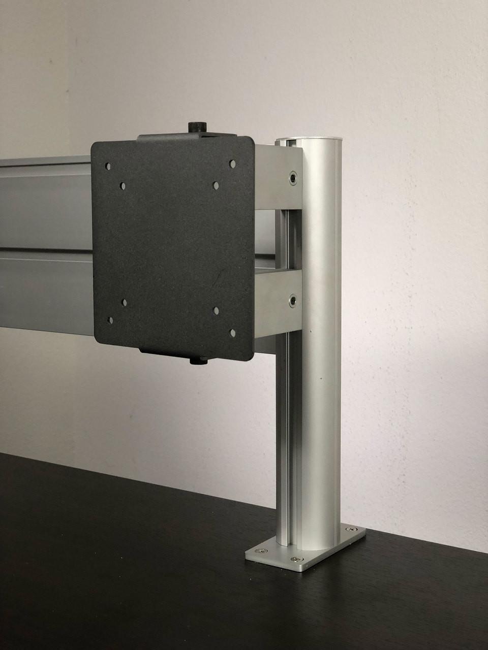 VESA Monitor Mount for Aluminum Organizer Slatwall w/ Short Arm, #OT-SUL-HANG5