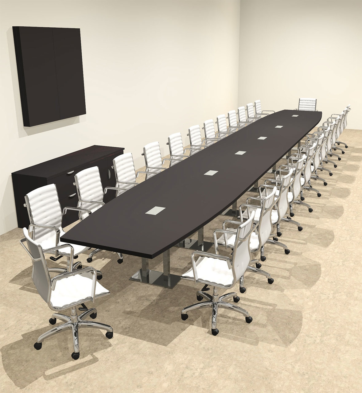Modern Boat Shaped Steel Leg 28' Feet Conference Table, #OF-CON-CM93