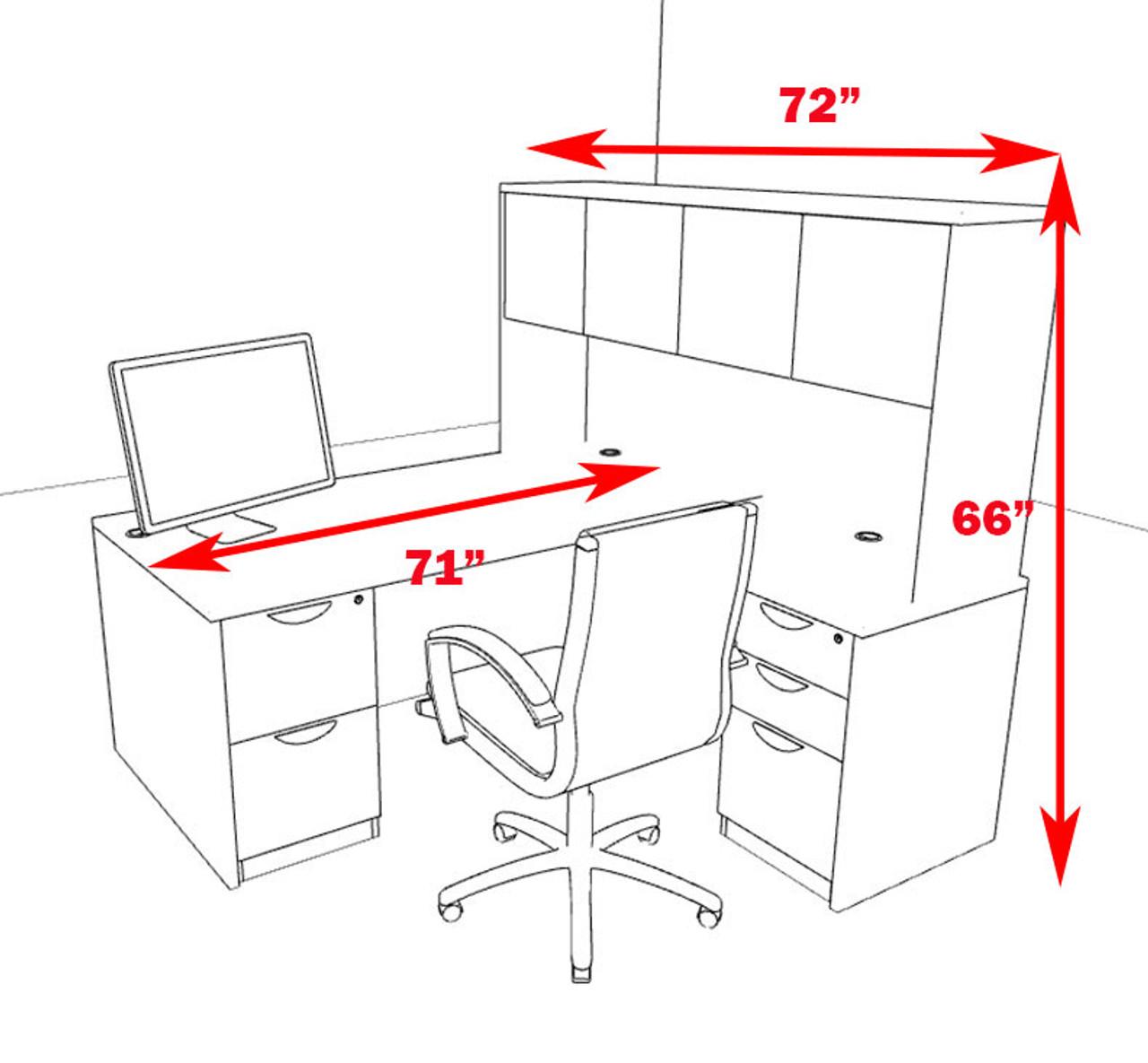 5pc L Shape Modern Executive Office Desk, #OT-SUL-L9