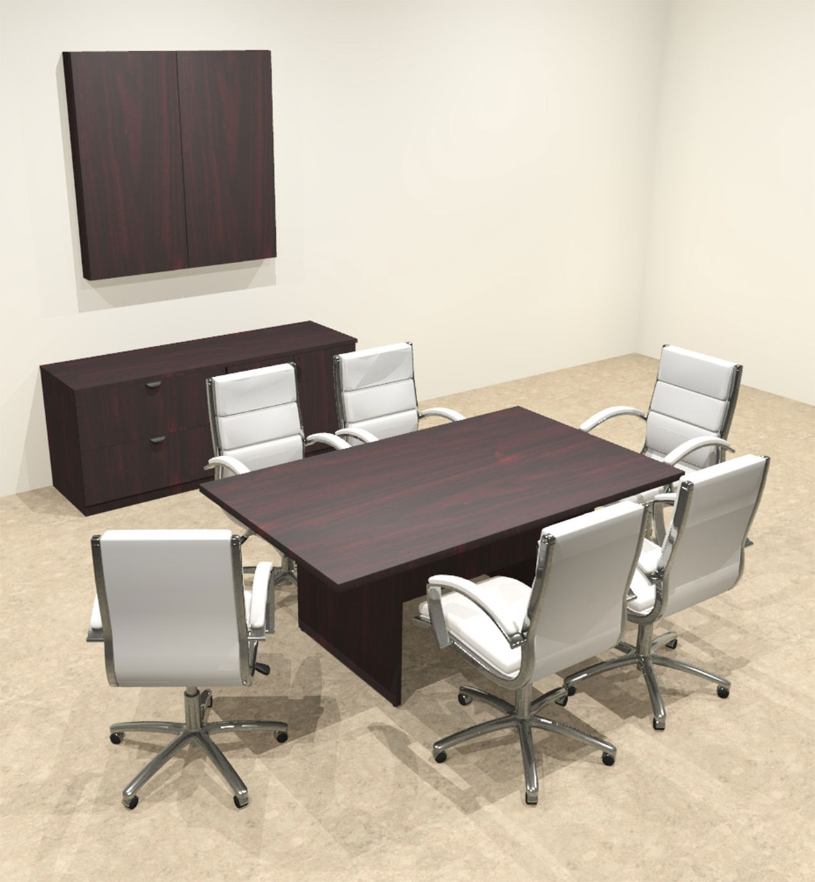 Modern Rectangular 6' Conference table, #OT-SUL-C18