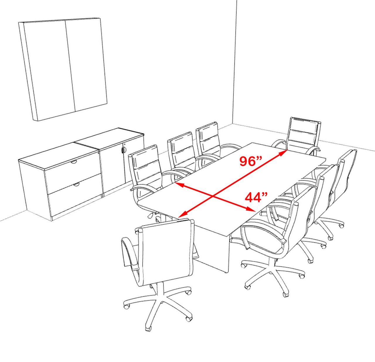 Modern Rectangular 8' Conference table, #OT-SUL-C21