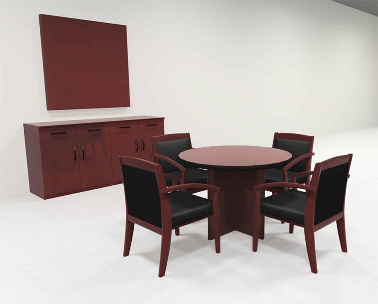 Modern Contemporary Round Veneer Office Conference Table, #RO-COR-C23