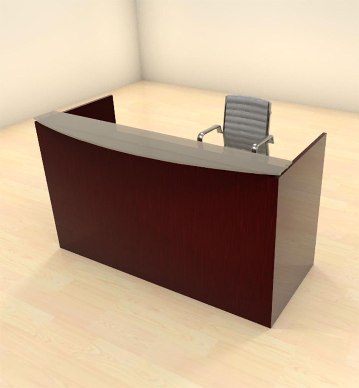 2pc Modern Glass Counter Reception Desk Set, #CH-JAD-R2