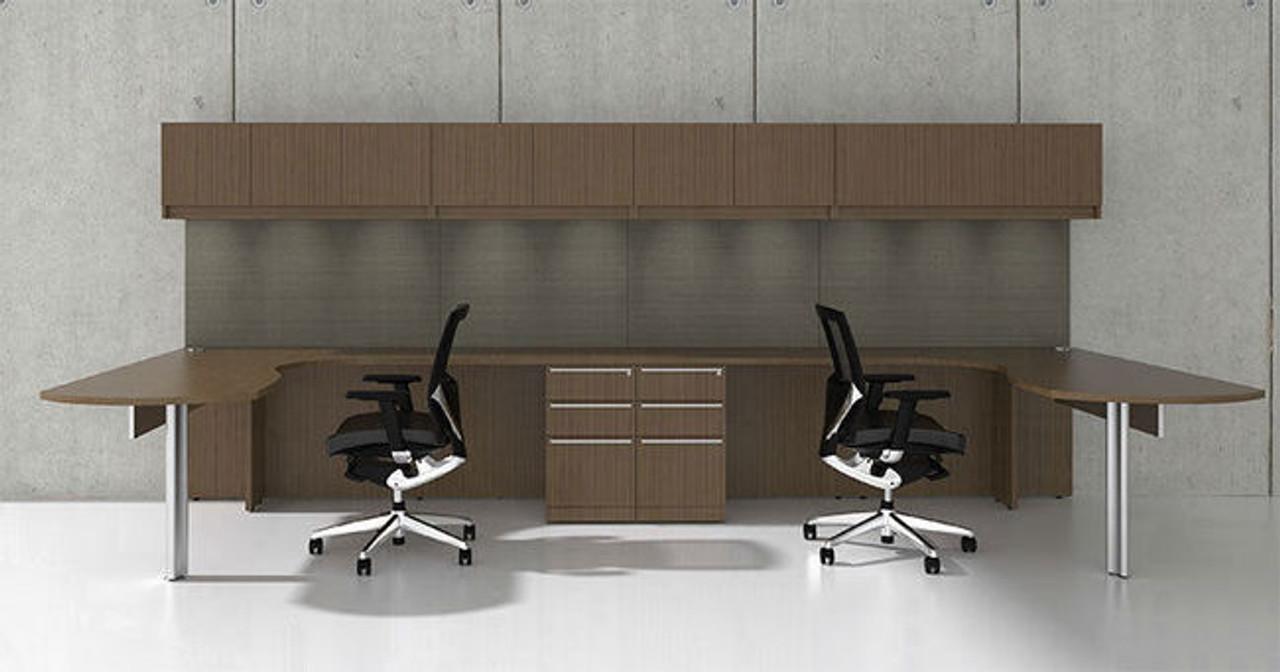 14pc L Shape Modern Executive Office Desk Set, #CH-VER-L6