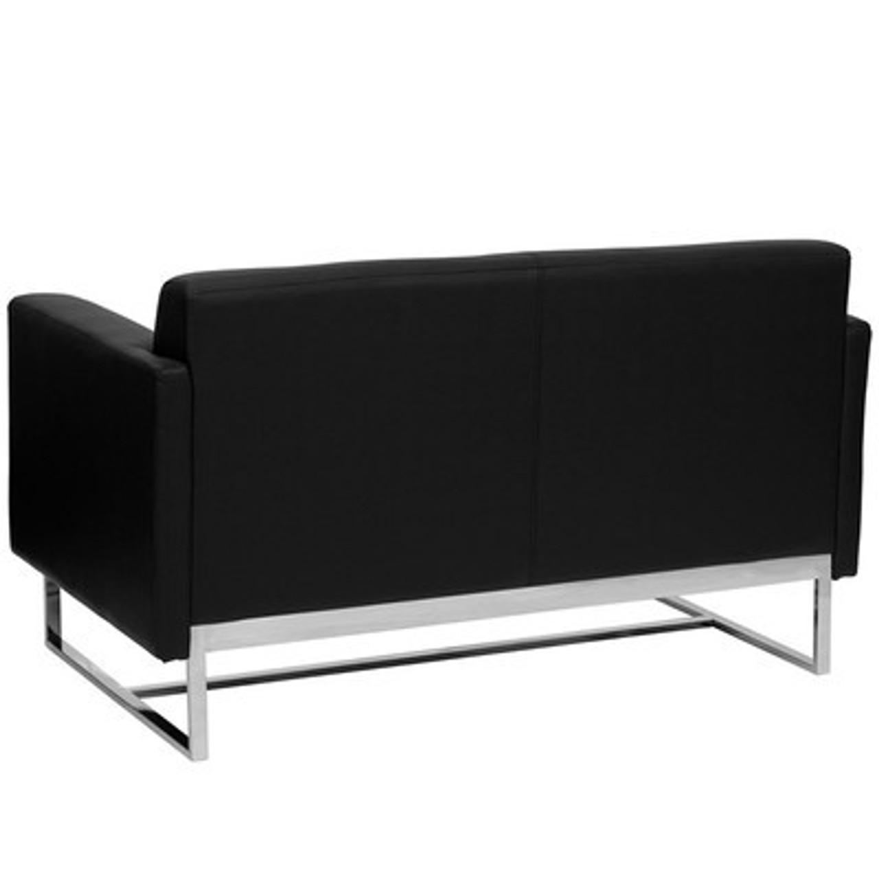 1pc Modern Leather Office Reception Loveseat, FF-0458-12