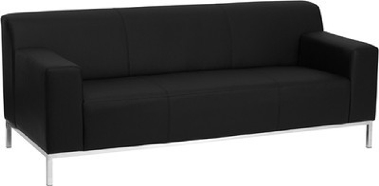 1pc Modern Leather Office Reception Sofa, FF-0444-12