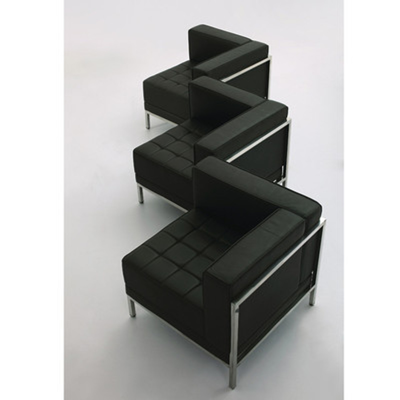 3pc Modern Leather Office Reception Sofa Set, FF-0433-12-S16