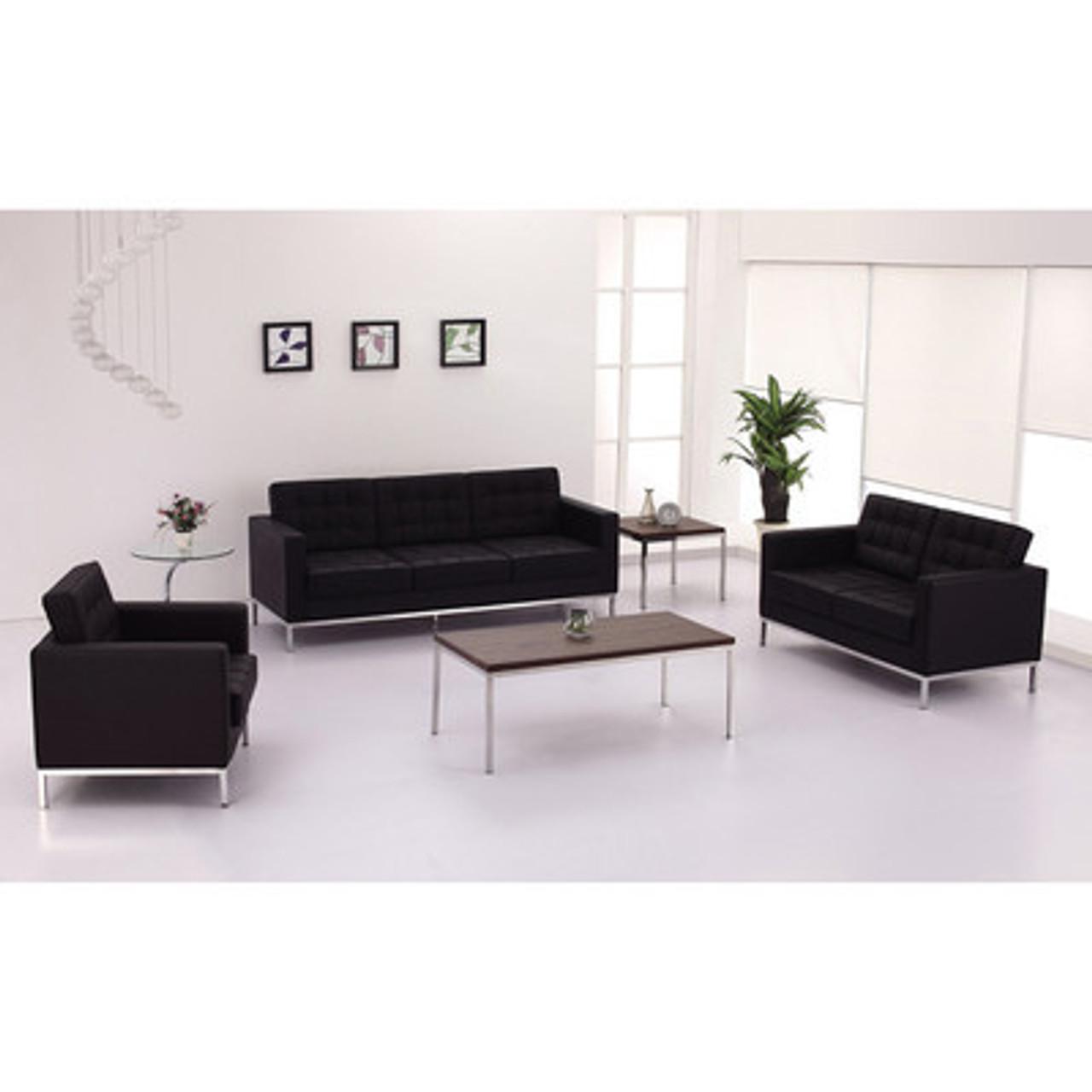 3pc Modern Leather Office Reception Sofa Set, FF-0441-12-S1