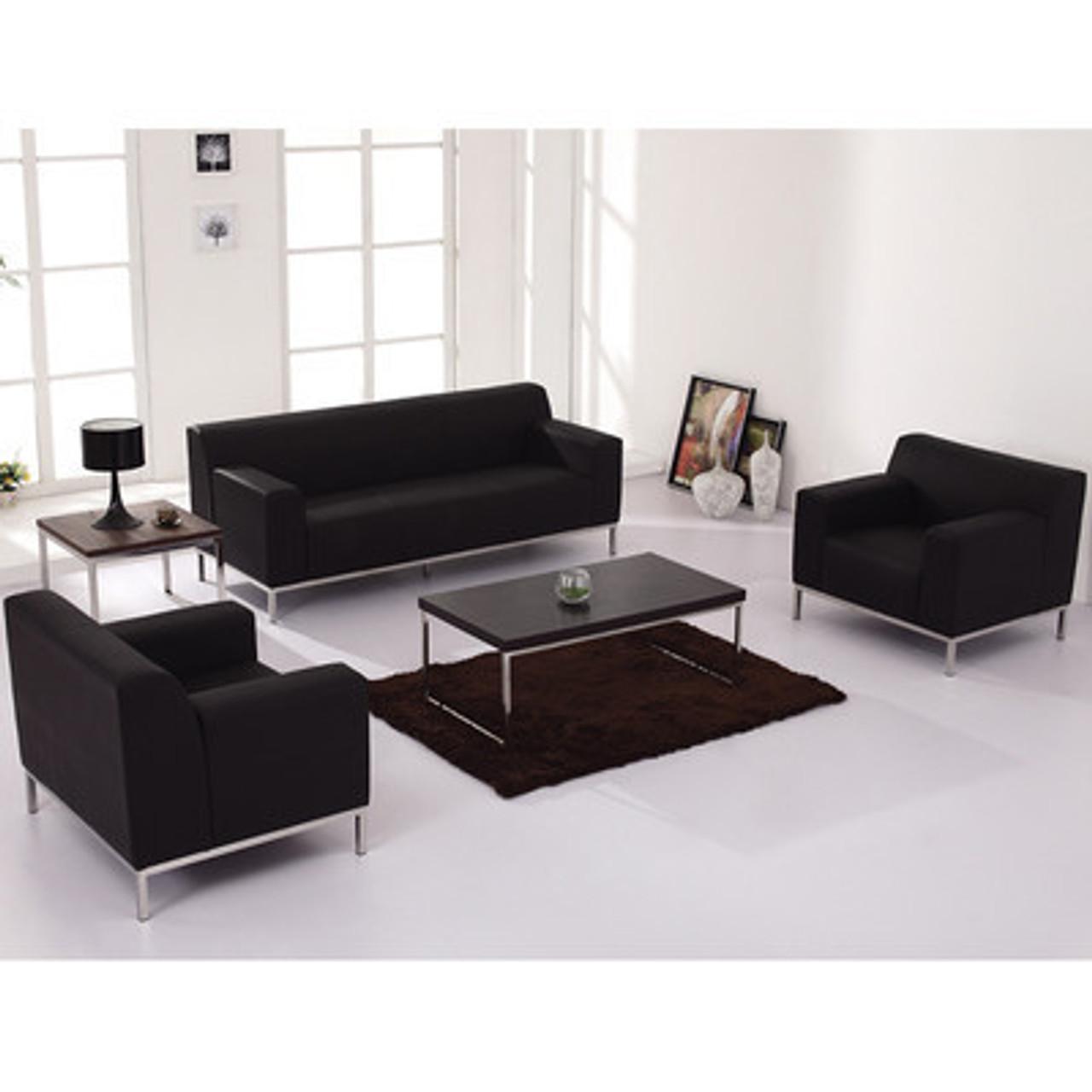 3pc Modern Leather Office Reception Sofa Set, FF-0444-12-S1
