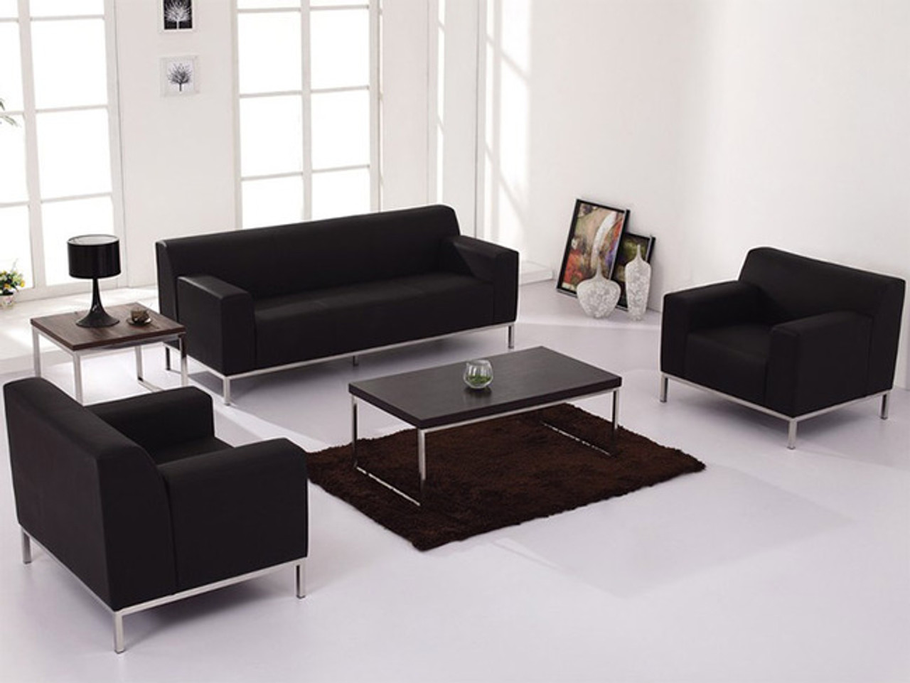 46pc Modern Leather Office Reception Sofa Set, FF-46-46-S46