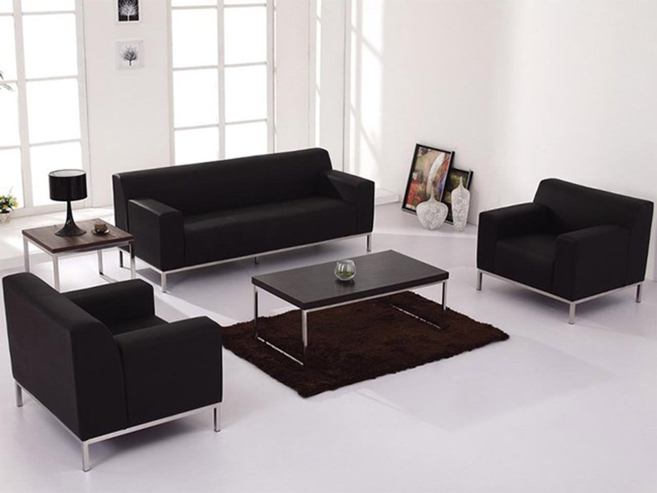 3pc Modern Leather Office Reception Sofa Set, FF-0459-12-S1