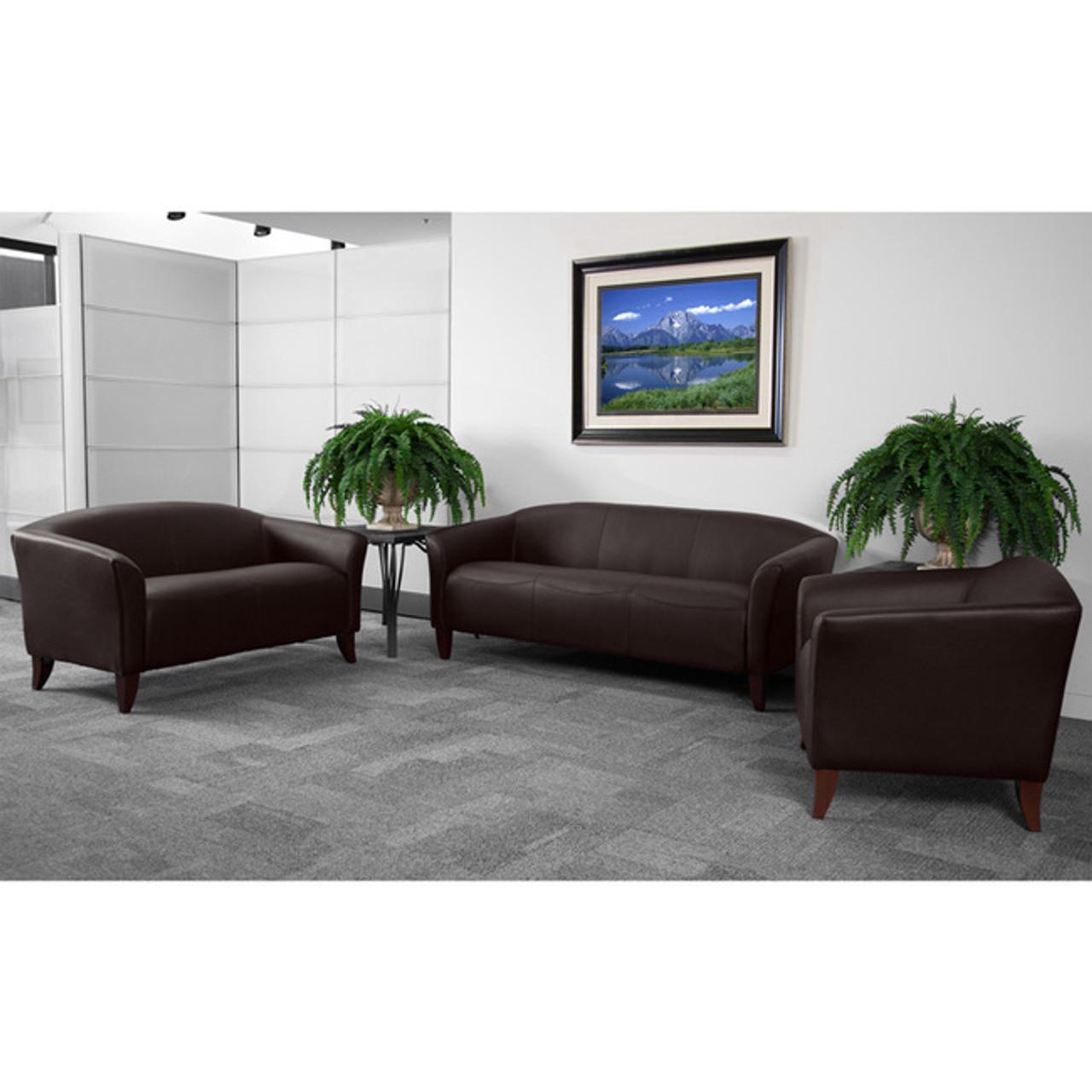 3pc Modern Leather Office Reception Sofa Set, FF-0536-13-S1