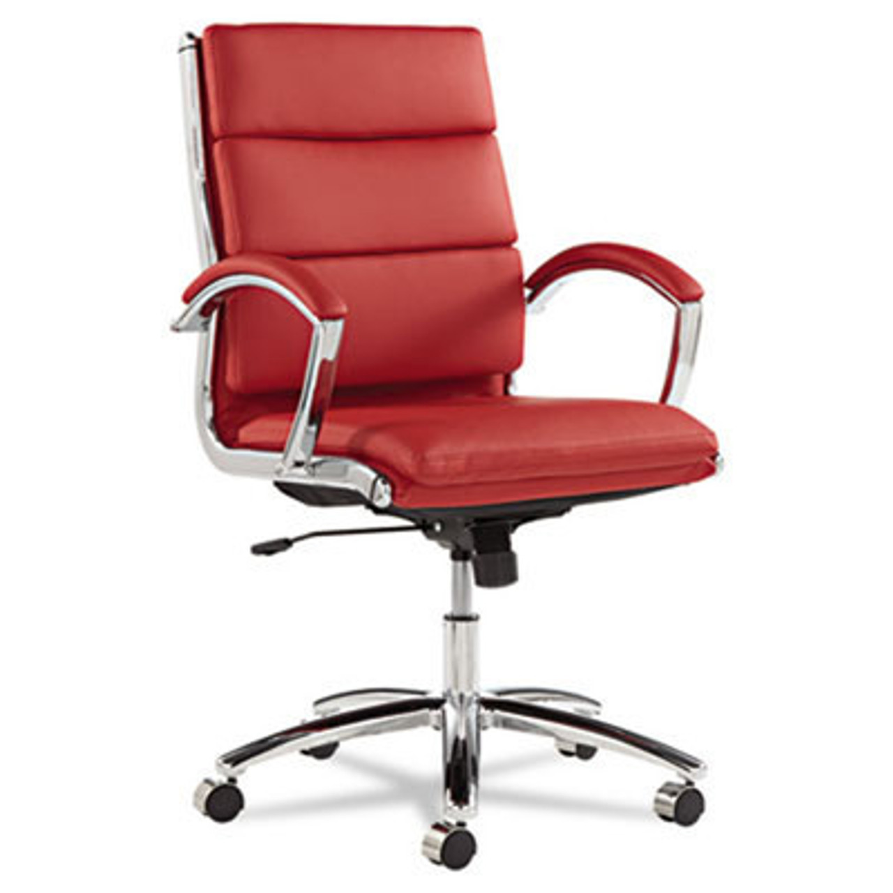 Mid Back Modern Leather Swivel/Tilt Office Chair, #AL-NR4239