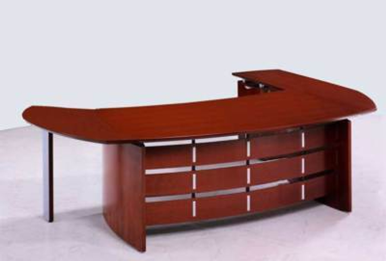 New 3Pc Cherrywood Oval Executive Office Desk #U-VAN-O1