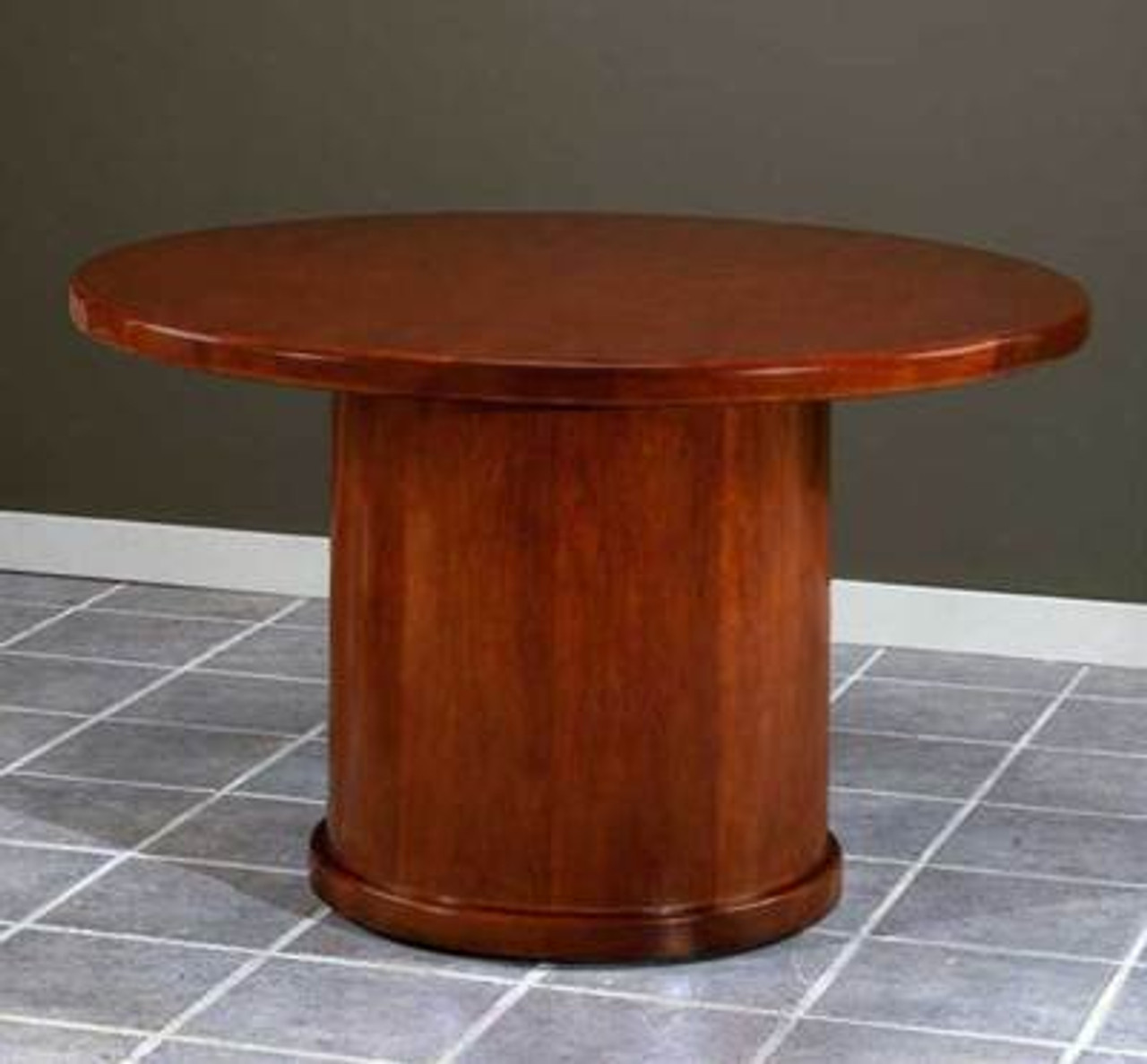 NEW 4' FEET WOOD ROUND CONFERENCE TABLE, #CH-RUB-C6