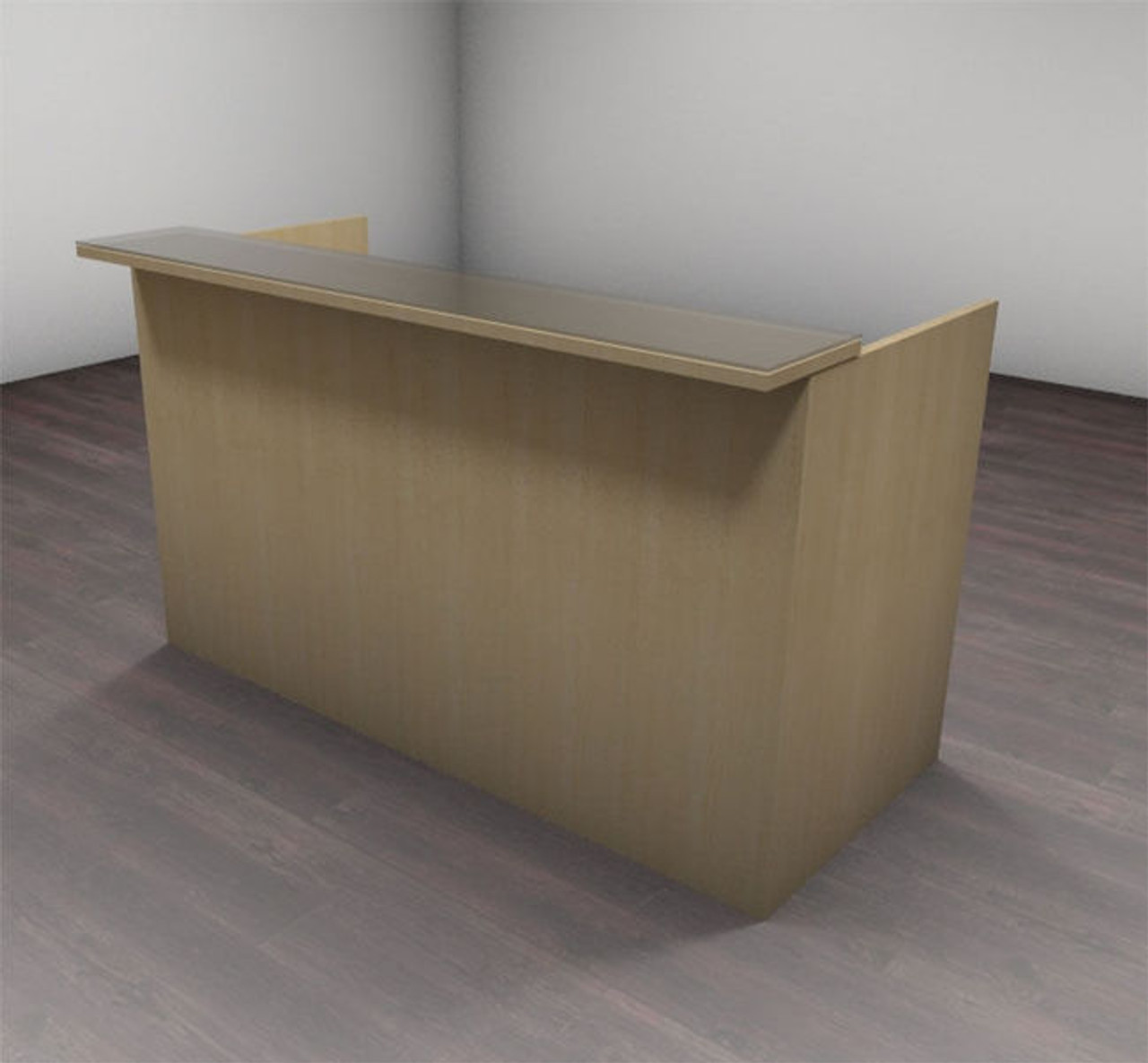 2pc Modern Glass Counter Reception Desk Set, #CH-AMB-R2