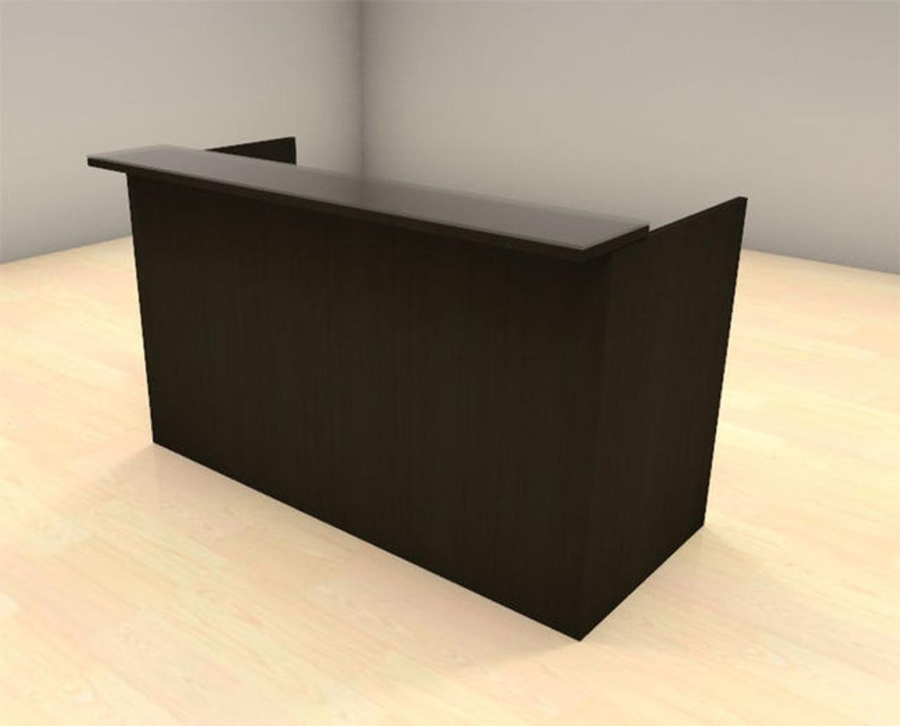 2pc Modern Glass Counter Reception Desk Set, #CH-AMB-R3