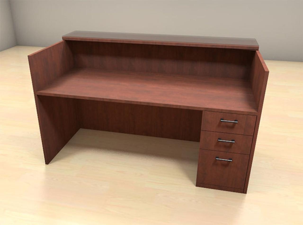 2pc Modern Glass Counter Reception Desk Set, #CH-AMB-R4