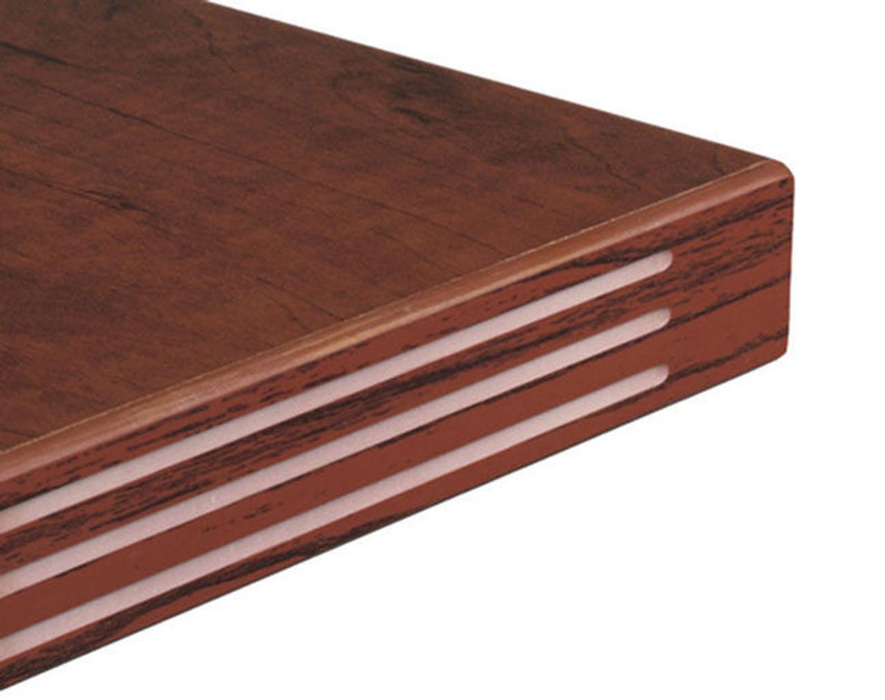 3pc L Shape Modern Glass Counter Reception Desk Set, #CH-AMB-R6