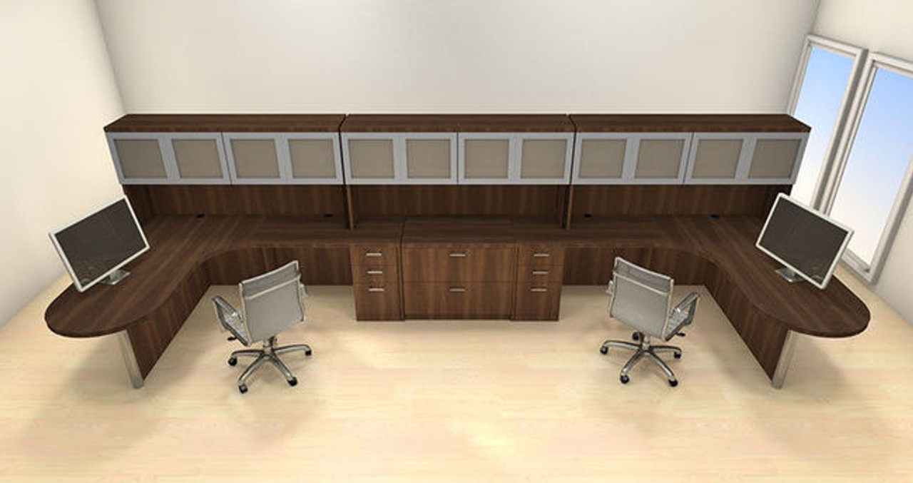 Two Persons Modern Executive Office Workstation Desk Set, #CH-AMB-S79