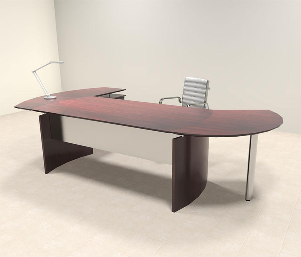 3pc Modern Contemporary Oval Executive Office Desk Set, #MT-MED-O2