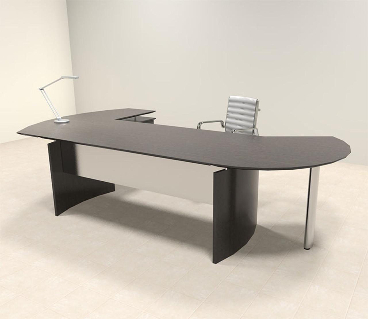 3pc Modern Contemporary Oval Executive Office Desk Set, #MT-MED-O3