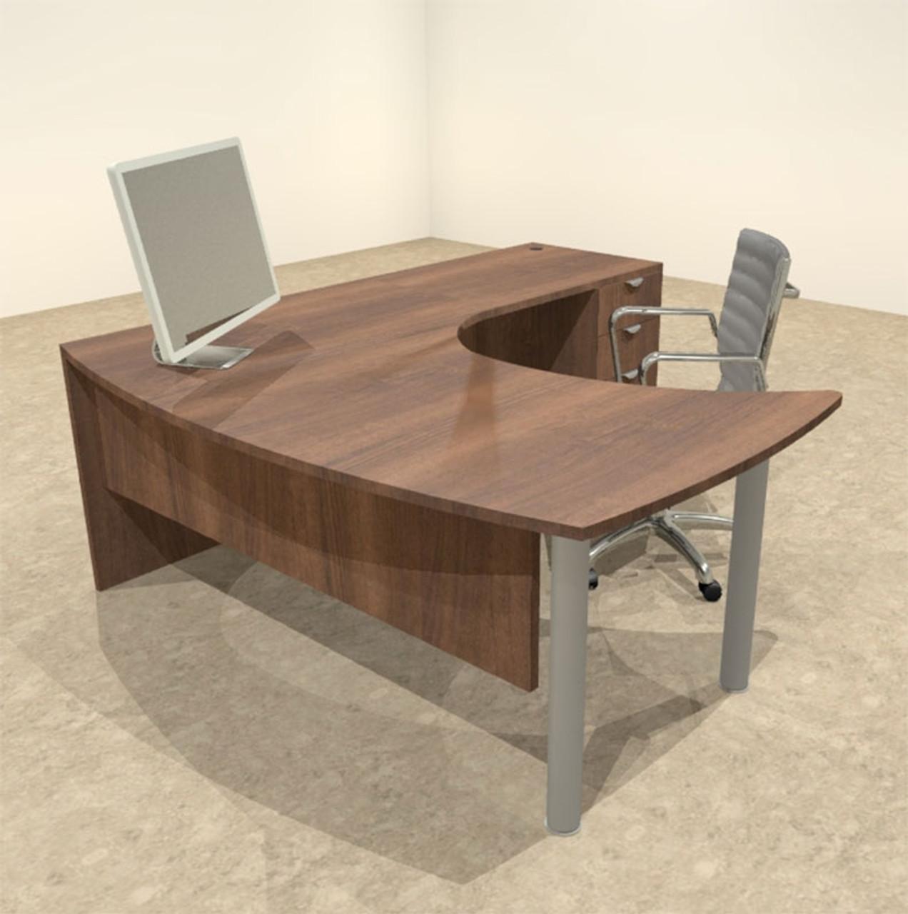 Sensational 3Pc L Shaped Modern Contemporary Executive Office Desk Set Of Con L14 Interior Design Ideas Inesswwsoteloinfo