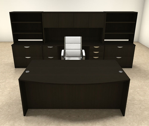 10pc Fan Front Modern Executive Office Desk Set, #OT-SUL-D12