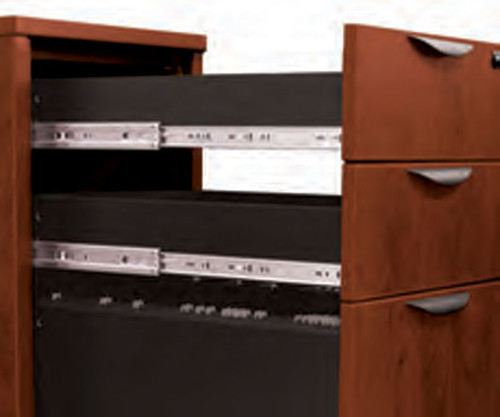 6pc Fan Front Modern Executive Office Desk Set, #OT-SUL-D7