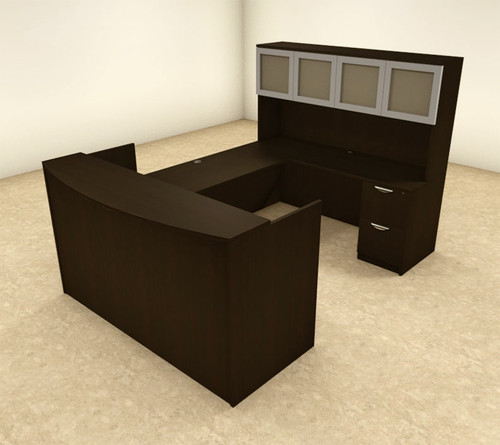 5pc U Shaped Modern Office Reception Desk, #OT-SUL-R12