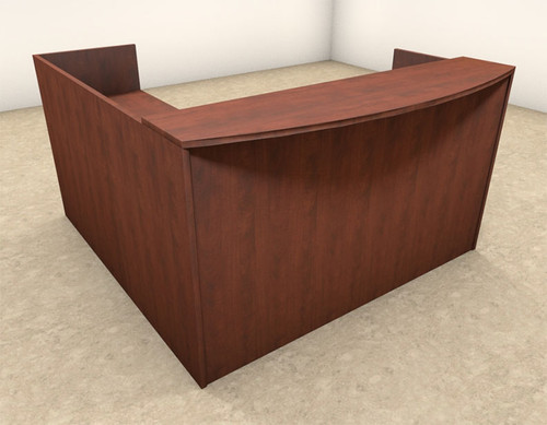 3pc L Shaped Modern Office Reception Desk, #OT-SUL-R6