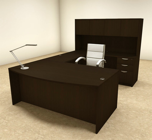 5pc U Shaped Modern Executive Office Desk, #OT-SUL-U16