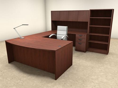 6pc U Shaped Modern Executive Office Desk, #OT-SUL-U30