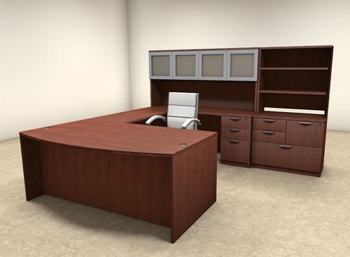 7pc U Shaped Modern Executive Office Desk, #OT-SUL-U46