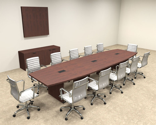 Modern Boat Shapedd 14' Feet Conference Table, #OF-CON-C67