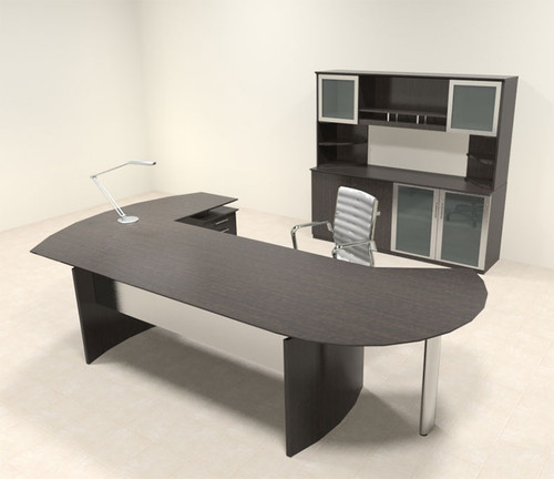 5pc Modern Contemporary L Shaped Executive Office Desk Set, #MT-MED-O18