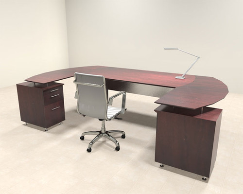 3pc Modern Contemporary U Shaped Executive Office Desk Set, #MT-MED-O8