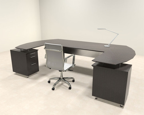 3pc Modern Contemporary U Shaped Executive Office Desk Set, #MT-MED-O9